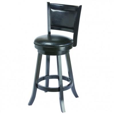 Backed Barstool - Seat Height 30 - Black