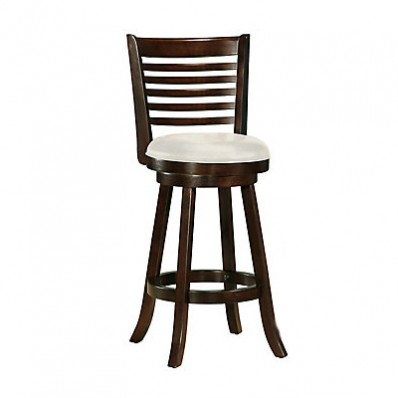 Woodgrove 43 Inch Cappuccino Wood Barstool With Leatherette Seat