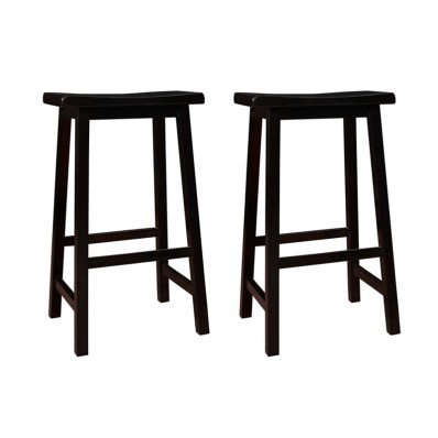 "BARSTOOL 29""H BLACK SADDLE SEAT"