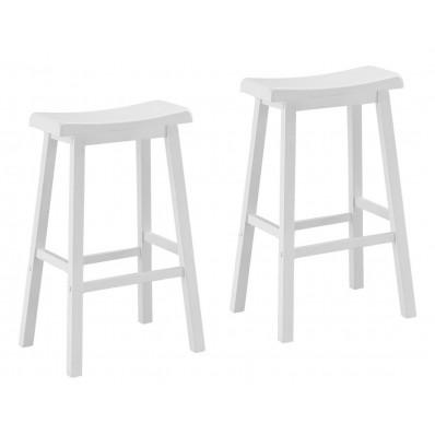 """BARSTOOL - 2PCS / 29""""H / WHITE SADDLE SEAT"""