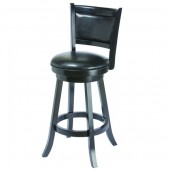 Backed Barstool - Seat Height 30 - Black