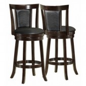 "BARSTOOL - 2PCS / 43""H / SWIVEL / CAPPUCCINO COUNTER HGT"