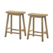 "BARSTOOL - 2PCS / 24""H / NATURAL SADDLE SEAT"
