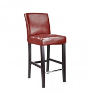Antonio Counter Height Barstool In Red Bonded Leather