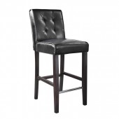 Antonio Counter Height Barstool In Black Bonded Leather