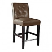 Antonio Counter Height Barstool In Dark Brown Bonded Leather